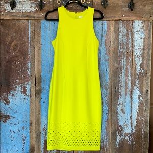 Spense Citron Form Fitting Cut Out Dress